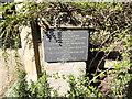 TF8538 : Memorial plaque in Wells Road, North Creake by Adrian S Pye