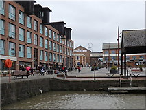 SO8218 : Barge Arm and High Orchard Street, Gloucester Docks by Rudi Winter