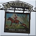SP0937 : Horse and Hounds inn sign by Philip Halling
