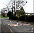 ST2681 : Speed bumps across Marshfield Road, Marshfield by Jaggery