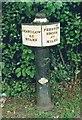 SJ8056 : Old milemarker by Milestone Society