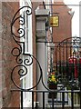 SK5739 : Gate and Railings to Forecourt of 24 and 26, Low Pavement, Nottingham – 2 by Alan Murray-Rust