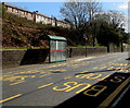 ST1190 : Bus stops and a shelter, Caerphilly Road, Senghenydd by Jaggery