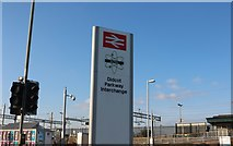SU5290 : Didcot Parkway Station sign by David Howard