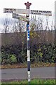 NY6319 : Old Direction Sign - Signpost, south of King's Meaburn by Milestone Society