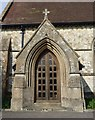 SU7730 : Greatham Church Door in Hampshire by John P Reeves