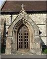 SU7730 : Greatham Church Door in Hampshire by John P Reeves