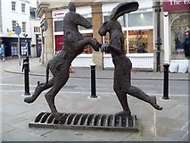 SP0202 : Cirencester sculpture [1] by Michael Dibb