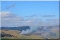 NT3240 : Muirburn smoke by Jim Barton