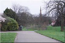 SJ3688 : Footpaths in Princes Park by Bill Boaden