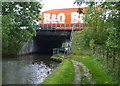 SD5170 : M6 motorway bridge crossing the Lancaster Canal by Mat Fascione