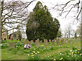 SE2740 : Grave markers in St John's churchyard, Adel by Stephen Craven