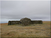 NY6834 : Shelter at the summit of Cross Fell by James T M Towill