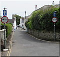 SY1287 : Width restriction, Coburg Road, Sidmouth by Jaggery