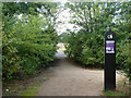 TQ5786 : Path and marker, Thames Chase Forest by Robin Webster