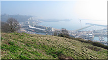 TR3140 : View across Dover from the Western Heights by Gareth James
