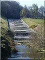 SK2890 : Damflask Reservoir spillway by Graham Hogg