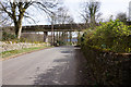 SK1684 : Rail bridge over Edale Road, Hope by Ian S