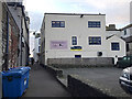 SX9372 : Rear of Oystercatcher's Café, Northumberland Place, Teignmouth by Robin Stott