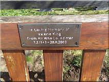 TM4899 : Plaque on sea near St. Mary's Church by Adrian Cable
