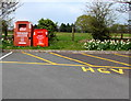SO3103 : British Heart Foundation donation bins near Little Mill, Monmouthshire by Jaggery