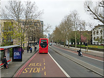 TQ3479 : Westbound St James's Road bus stop by Robin Webster
