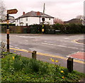 ST2682 : Old signpost at crossroads in the centre of Marshfield by Jaggery