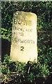 SU1791 : Old Milestone by Milestone Society