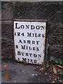 SK2623 : Old Milepost by Milestone Society