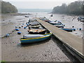 SX8456 : Stoke Gabriel pontoon at low tide by David Hawgood
