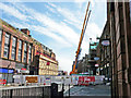NY4055 : Cranes removing masonry from the Central Plaza Hotel by Rose and Trev Clough