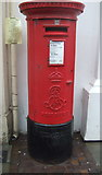 SO5140 : Edward VII postbox on Commercial Street, Hereford by JThomas