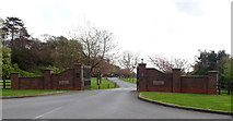 TA0231 : Entrance to Haltemprice Crematorium by JThomas