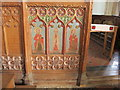 SX8457 : Painting of saints and prophet on rood screen, Stoke Gabriel by David Hawgood