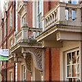 SK5639 : Porch and balconies, 19 Regent Street, Nottingham by Alan Murray-Rust