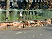 SK5639 : Railings and wall at Wellington Circus, Nottingham by Alan Murray-Rust