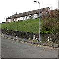 SN9926 : Bungalows above Cae'r Afallen, Libanus, Powys by Jaggery