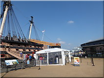 SU6200 : Warships ancient and modern at Portsmouth Historic Dockyard by Basher Eyre