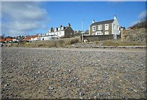 NO4202 : Houses beside the beach, Lower Largo by Richard Sutcliffe
