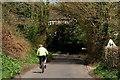 TQ3629 : Cyclist on Hammingden Lane by Peter Trimming