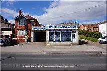 SE5613 : White Garage, Doncaster Road, Askern by Ian S
