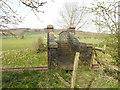 SE0253 : Footbridge over the railway near Holywell Halt by Stephen Craven