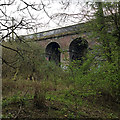 SP3477 : Eastern side arches, railway viaduct over the River Sherbourne, Coventry by Robin Stott
