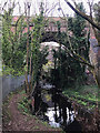 SP3477 : Central span, railway viaduct over the River Sherbourne, Coventry by Robin Stott