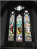 TQ1667 : St Nicholas, Thames Ditton: stained glass window (iii) by Basher Eyre