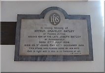 TQ1667 : St Nicholas, Thames Ditton: memorial (C) by Basher Eyre