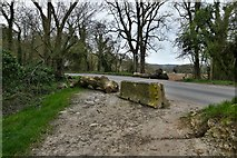 TQ1148 : Wotton: Parking discouraged at the start of the Abinger Roughs trail by Michael Garlick