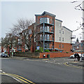 SK5837 : West Bridgford: flats on Musters Road by John Sutton