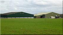 SO8466 : Large farm buildings by Jonathan Billinger