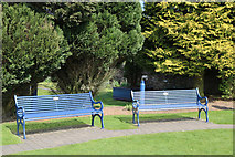 NY1281 : Seating at the Remembrance Garden, Lockerbie by Billy McCrorie
